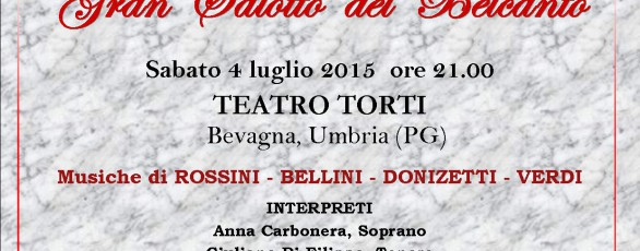 Belcanto In Salotto.Gran Salotto Del Belcanto Al Teatro F Torti Di Bevagna